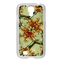 Floral Motif Print Pattern Collage Samsung Galaxy S4 I9500/ I9505 Case (white)
