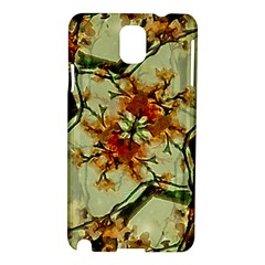 Floral Motif Print Pattern Collage Samsung Galaxy Note 3 N9005 Hardshell Case