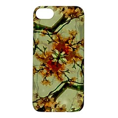 Floral Motif Print Pattern Collage Apple Iphone 5s Hardshell Case