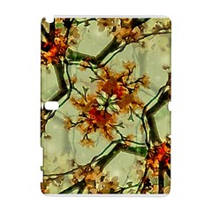 Floral Motif Print Pattern Collage Samsung Galaxy Note 10.1 (P600) Hardshell Case