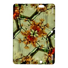 Floral Motif Print Pattern Collage Kindle Fire HDX 8.9  Hardshell Case