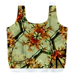 Floral Motif Print Pattern Collage Reusable Bag (XL)