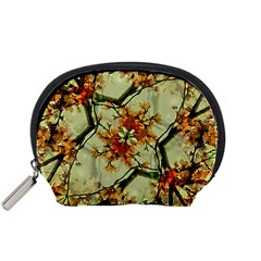 Floral Motif Print Pattern Collage Accessory Pouch (Small)