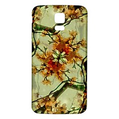 Floral Motif Print Pattern Collage Samsung Galaxy S5 Back Case (White)