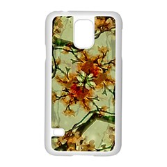 Floral Motif Print Pattern Collage Samsung Galaxy S5 Case (White)