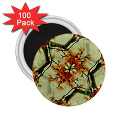 Floral Motif Print Pattern Collage 2 25  Button Magnet (100 Pack)