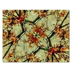 Floral Motif Print Pattern Collage Jigsaw Puzzle (rectangle)