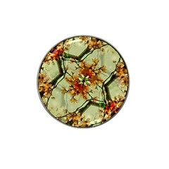 Floral Motif Print Pattern Collage Golf Ball Marker (for Hat Clip)