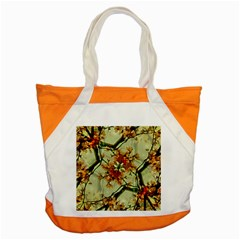 Floral Motif Print Pattern Collage Accent Tote Bag