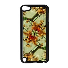 Floral Motif Print Pattern Collage Apple Ipod Touch 5 Case (black)