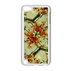Floral Motif Print Pattern Collage Apple Ipod Touch 5 Case (white)