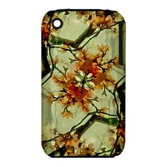 Floral Motif Print Pattern Collage Apple iPhone 3G/3GS Hardshell Case (PC+Silicone)