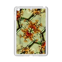 Floral Motif Print Pattern Collage Apple iPad Mini 2 Case (White)