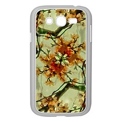 Floral Motif Print Pattern Collage Samsung Galaxy Grand DUOS I9082 Case (White)