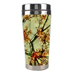 Floral Motif Print Pattern Collage Stainless Steel Travel Tumbler Right