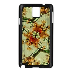 Floral Motif Print Pattern Collage Samsung Galaxy Note 3 N9005 Case (Black)