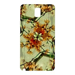 Floral Motif Print Pattern Collage Samsung Galaxy Note 3 N9005 Hardshell Back Case