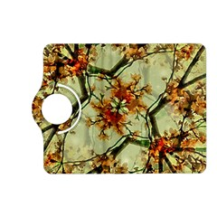 Floral Motif Print Pattern Collage Kindle Fire HD (2013) Flip 360 Case