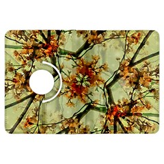 Floral Motif Print Pattern Collage Kindle Fire HDX Flip 360 Case