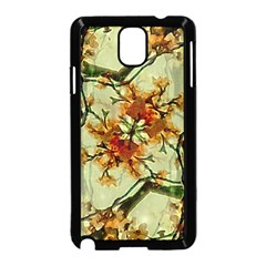 Floral Motif Print Pattern Collage Samsung Galaxy Note 3 Neo Hardshell Case (black)