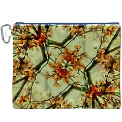 Floral Motif Print Pattern Collage Canvas Cosmetic Bag (XXXL)