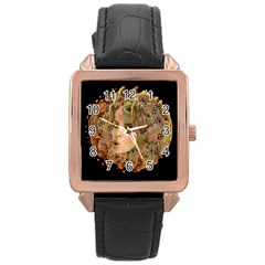Organic Planet Rose Gold Leather Watch