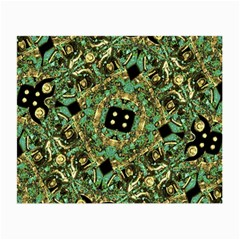 Luxury Abstract Golden Grunge Art Glasses Cloth (Small)