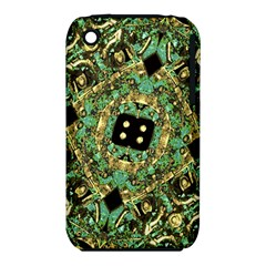 Luxury Abstract Golden Grunge Art Apple iPhone 3G/3GS Hardshell Case (PC+Silicone)