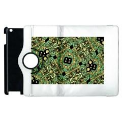Luxury Abstract Golden Grunge Art Apple iPad 2 Flip 360 Case