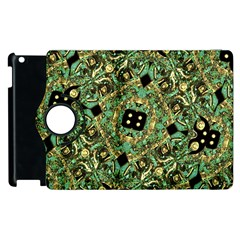 Luxury Abstract Golden Grunge Art Apple iPad 3/4 Flip 360 Case