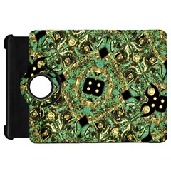 Luxury Abstract Golden Grunge Art Kindle Fire Hd Flip 360 Case