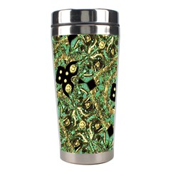 Luxury Abstract Golden Grunge Art Stainless Steel Travel Tumbler