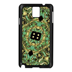 Luxury Abstract Golden Grunge Art Samsung Galaxy Note 3 N9005 Case (black)
