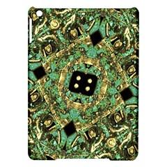 Luxury Abstract Golden Grunge Art Apple iPad Air Hardshell Case