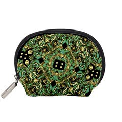 Luxury Abstract Golden Grunge Art Accessory Pouch (Small)