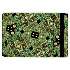 Luxury Abstract Golden Grunge Art Apple iPad Air Flip Case