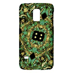 Luxury Abstract Golden Grunge Art Samsung Galaxy S5 Mini Hardshell Case