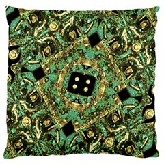 Luxury Abstract Golden Grunge Art Standard Flano Cushion Case (One Side)