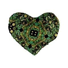 Luxury Abstract Golden Grunge Art 16  Premium Flano Heart Shape Cushion