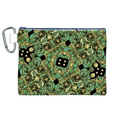 Luxury Abstract Golden Grunge Art Canvas Cosmetic Bag (XL)