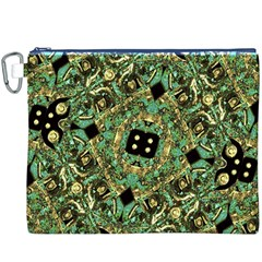 Luxury Abstract Golden Grunge Art Canvas Cosmetic Bag (XXXL)