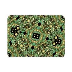 Luxury Abstract Golden Grunge Art Flano Blanket (Mini)
