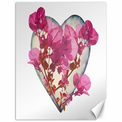 Heart Shaped With Flowers Digital Collage Canvas 12  X 16  (unframed)