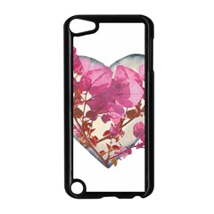 Heart Shaped with Flowers Digital Collage Apple iPod Touch 5 Case (Black)