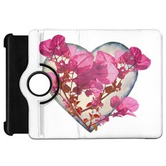 Heart Shaped with Flowers Digital Collage Kindle Fire HD Flip 360 Case