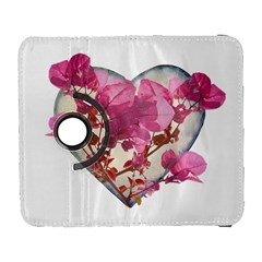 Heart Shaped with Flowers Digital Collage Samsung Galaxy S  III Flip 360 Case