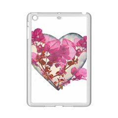 Heart Shaped with Flowers Digital Collage Apple iPad Mini 2 Case (White)