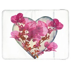 Heart Shaped with Flowers Digital Collage Samsung Galaxy Tab 7  P1000 Flip Case