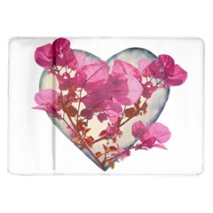 Heart Shaped with Flowers Digital Collage Samsung Galaxy Tab 10.1  P7500 Flip Case