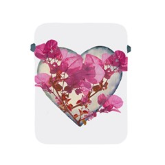 Heart Shaped With Flowers Digital Collage Apple Ipad Protective Sleeve
